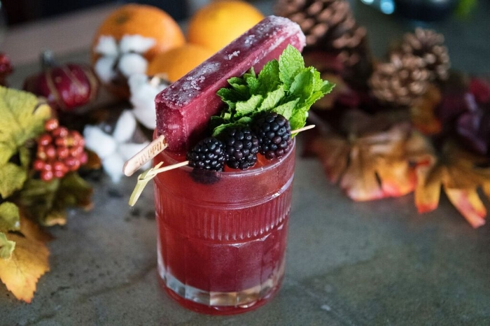 Citrus Amaretto & Blackberry Clove Poptail