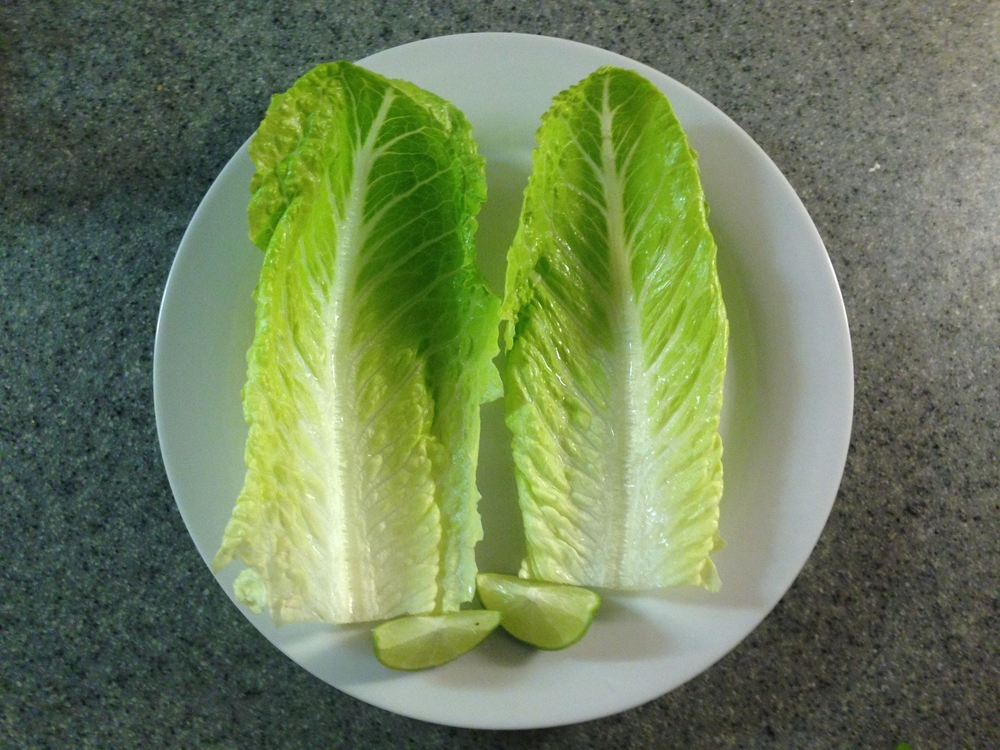 "Start with empty lettuce ""cups""."