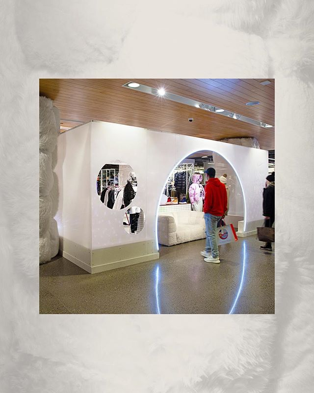 Fun fact of the day: 1 month from now we'll be in the spring, with winter in the rearview mirror. For us, that includes the Nordstrom x Nike holiday shop takeover we designed and produced for five cities. Holiday customers were met with a snow globe inspired display with a Mid-Century Sci-Fi twist. #retaildesign #experiencedesign #artdirection #springiscoming