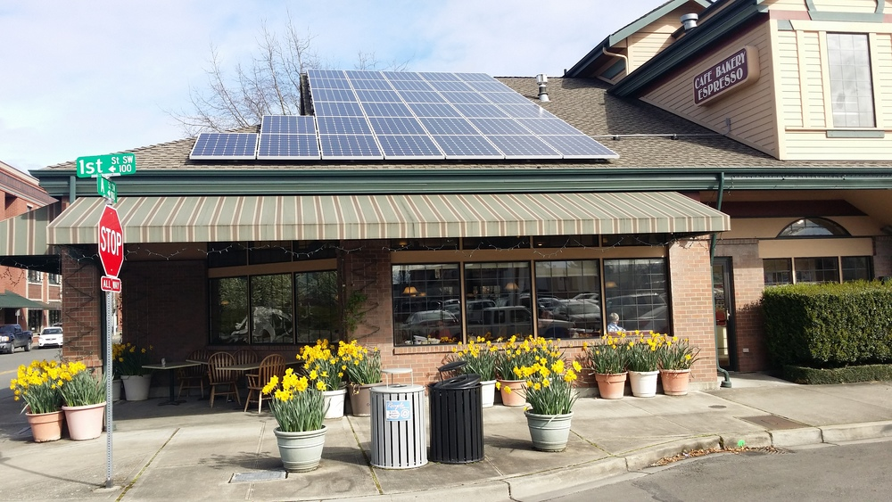 Sun Break Café-Auburn                                              10 kW / 37 - Itek, 270w Modules / Blue Frog APS Microinverters