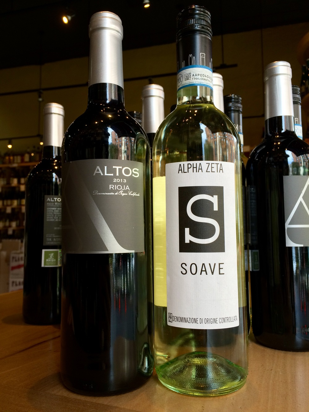 2013 Altos Rioja and 2014 Alpha Zeta Soave