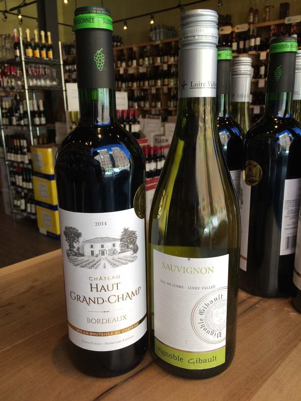 2014 Chateau Haut Grand-Champ and 2014 Vignoble Gibault Sauvignon
