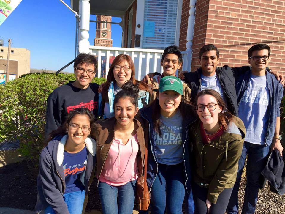 WashU Global Brigades' 1st local brigade at St. Louis Crisis Nursery-Spring 2016
