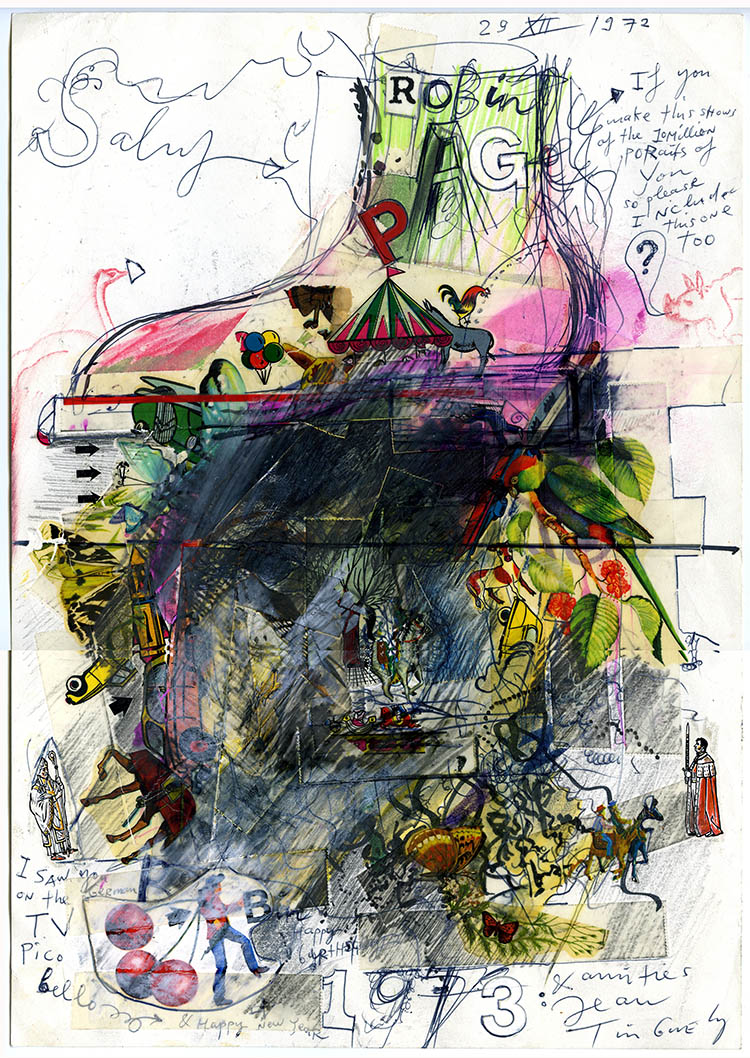 Shoe on Head Portrait by Jean Tinguely