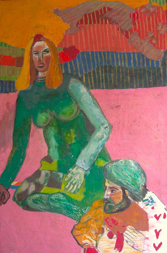 Robin & Carol Page, Painting by Stass Paraskos, image courtesy Michael Paraskos
