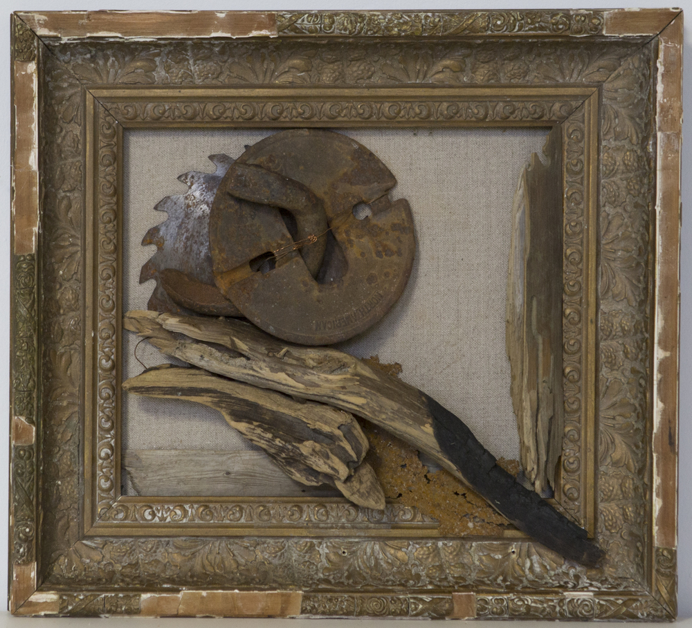 Saw Blade in Gilded Frame