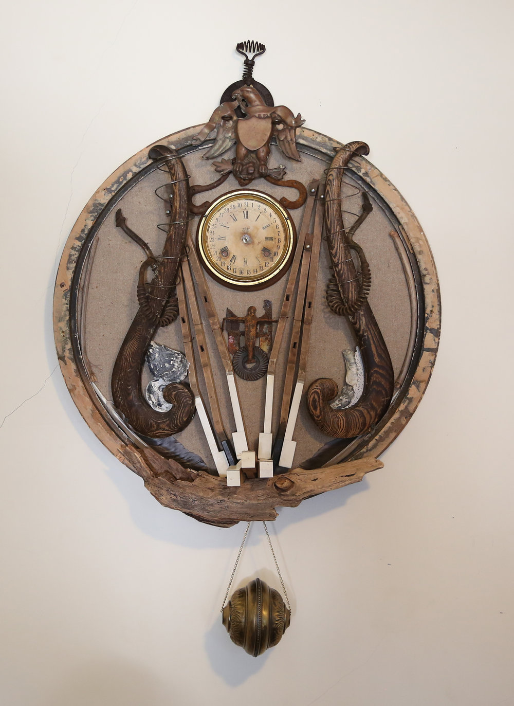 Clock With Censer