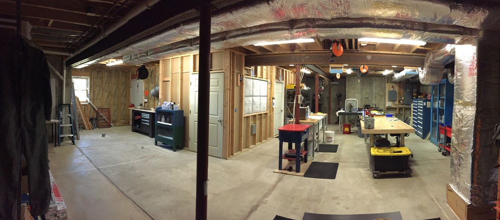 A pano shot showing the entrance to the paint room.