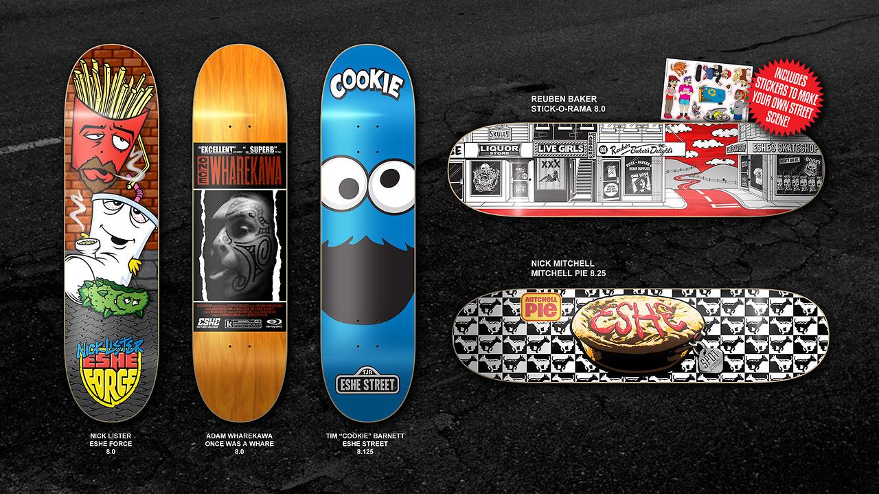 New Eshe Decks designed by PD.   www.esheskateboards.com