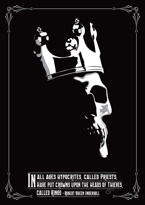 Thieves Hand Screened Art Print ©Poynterdesign