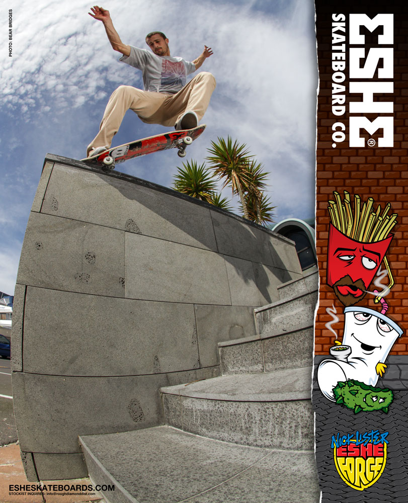 Eshe Skateboards Nick Lister ad in Manual Magazine