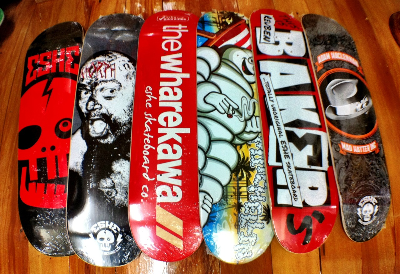 New decks I designed for my skateboard brand,  Eshe Skateboard Co.