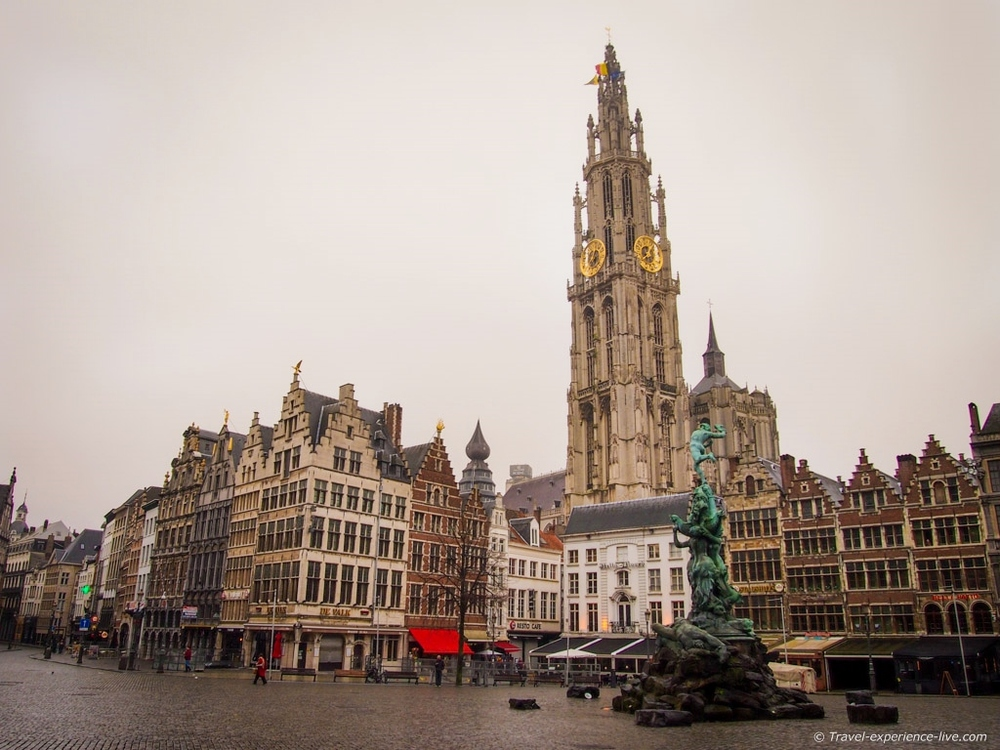 The town square of Antwerp.