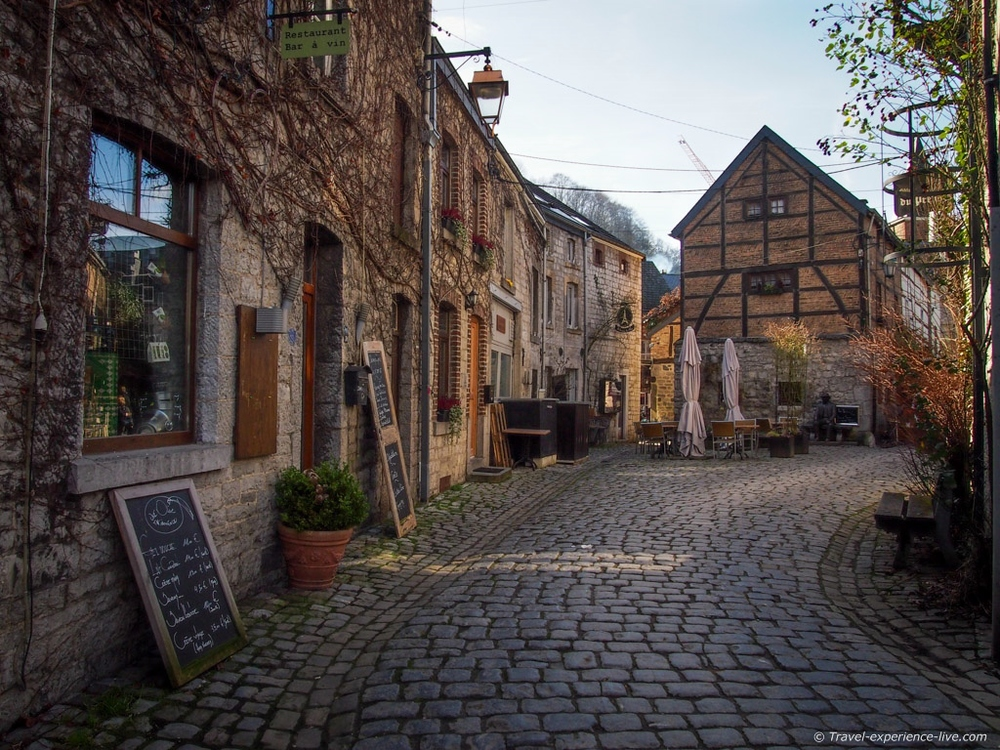 One of Durbuy's numerous cobbled streets.