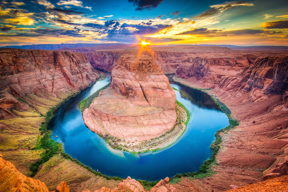 Sunset over Horseshoe Bend, Arizona