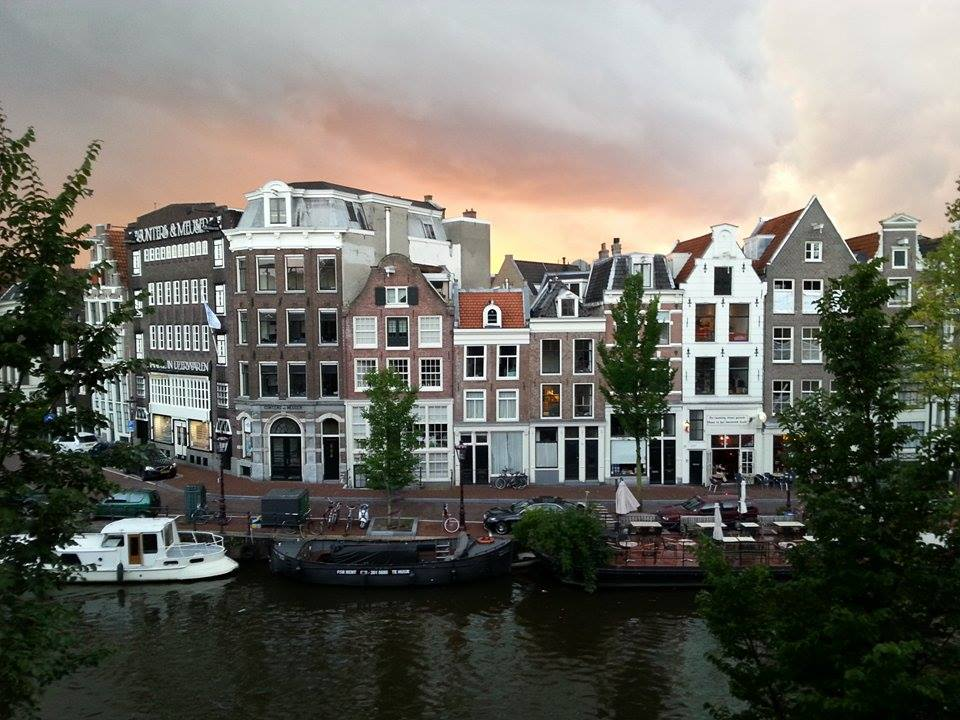 Sunset on Amsterdam's Prinsengracht Canal by Sam Owens