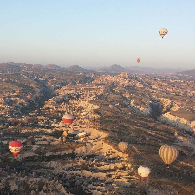 Cappadocia, Turkey from a hot air balloon