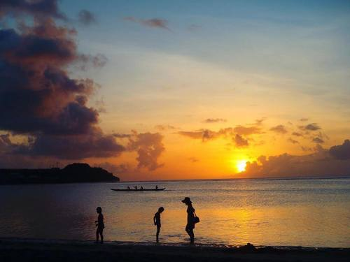 Sunset at Tumon Bay in Guam by Mackenna Guest