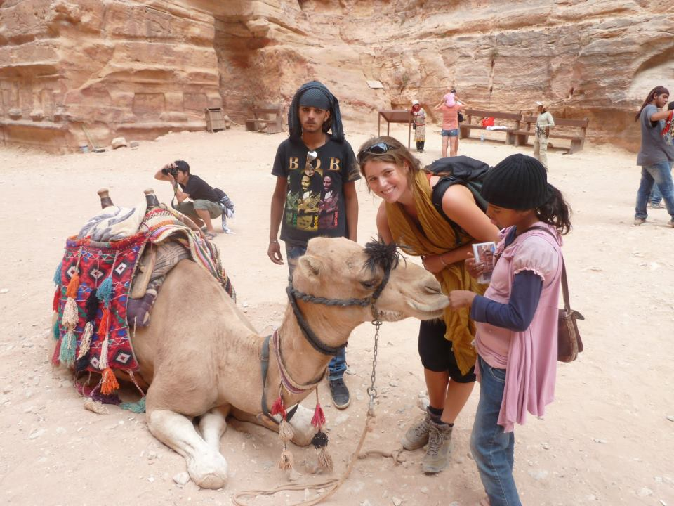 Phoebe in Petra, Jordan