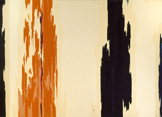 Clyfford Still: 1955-H, 1955, on view at the LA County Museum of Art, available to order on the LACMA website.