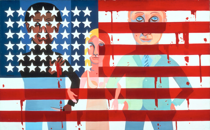 faith ringgold, the flag is bleeding, 1967