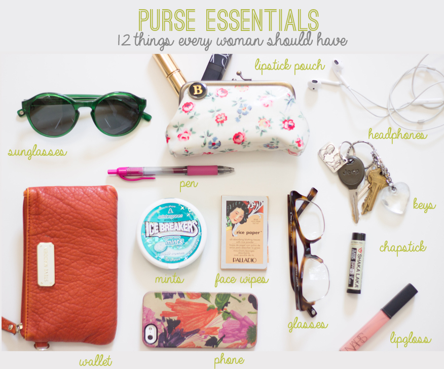 Purse essentials 12 things every woman should have reality and retrospect - Random things every house needs ...