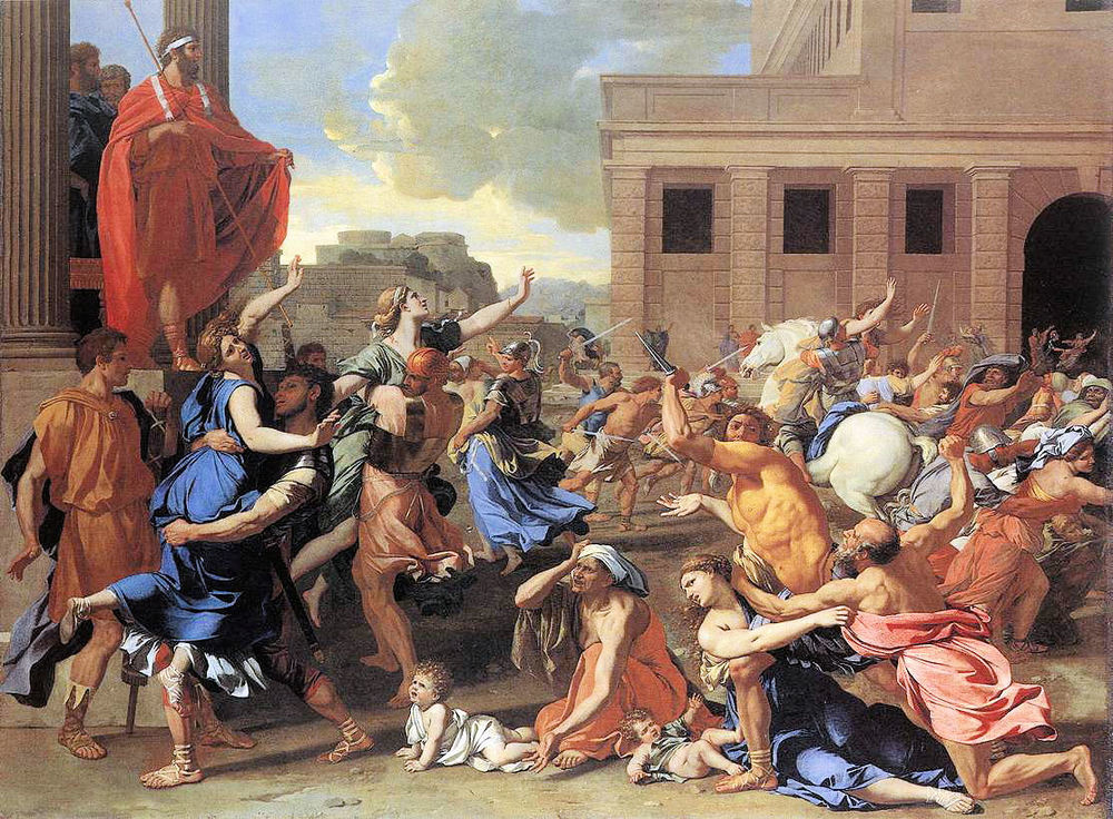 nicholas poussin, the abduction of the sabine women, 1634-35