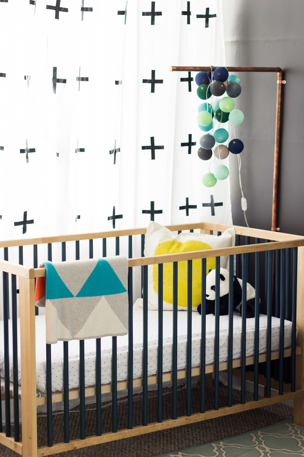 Crib price range - I Loved The Look Of Cribs With Painted Slats Only Problem Was Those Cribs Were Way Out Of My Price Range So I Got The Ikea Gulliver Crib In Natural Wood