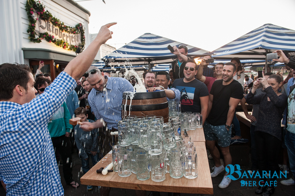 OKTOBERFEST KEG TAPPING AT BAVARIAN BIER CAFÉ MANLY 2014