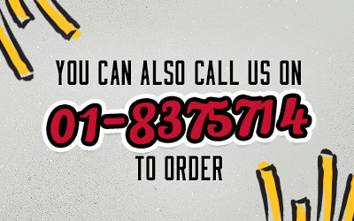 Call us on 01-8375714 to order