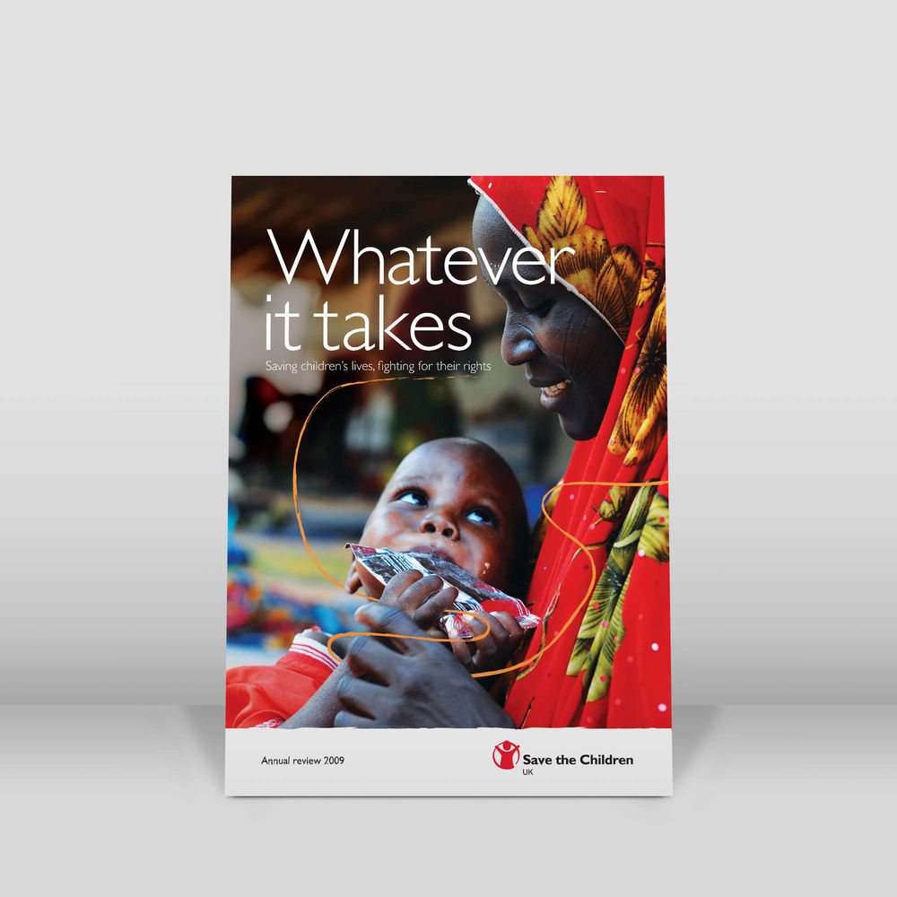 Charity annual report design front cover