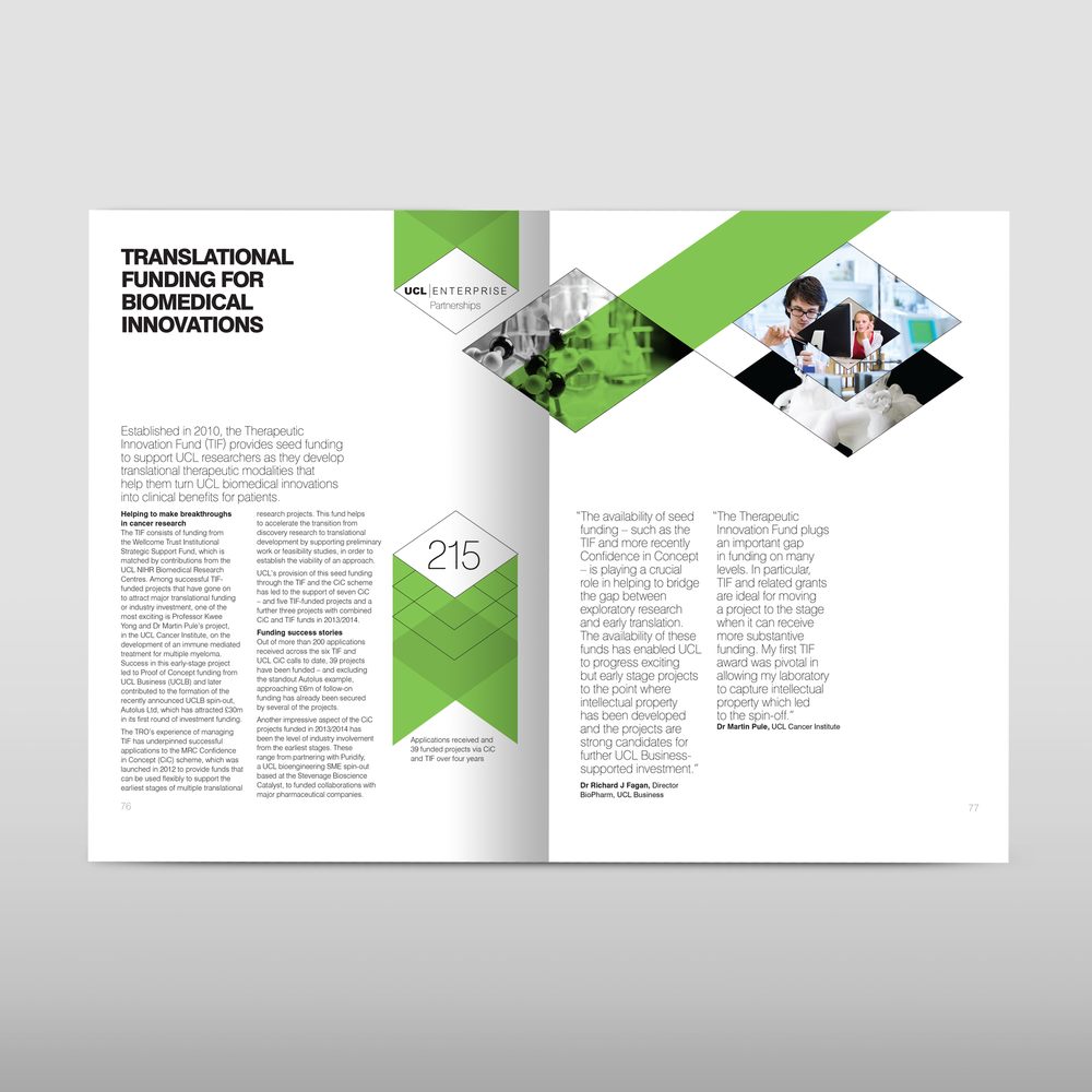 University college London annual report design agency.png