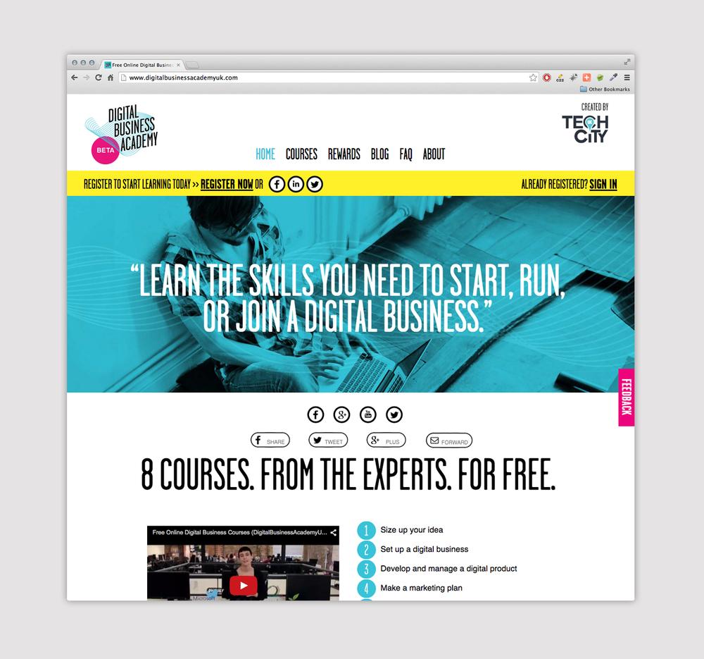 Digital Courses Homepage Web Design Uk
