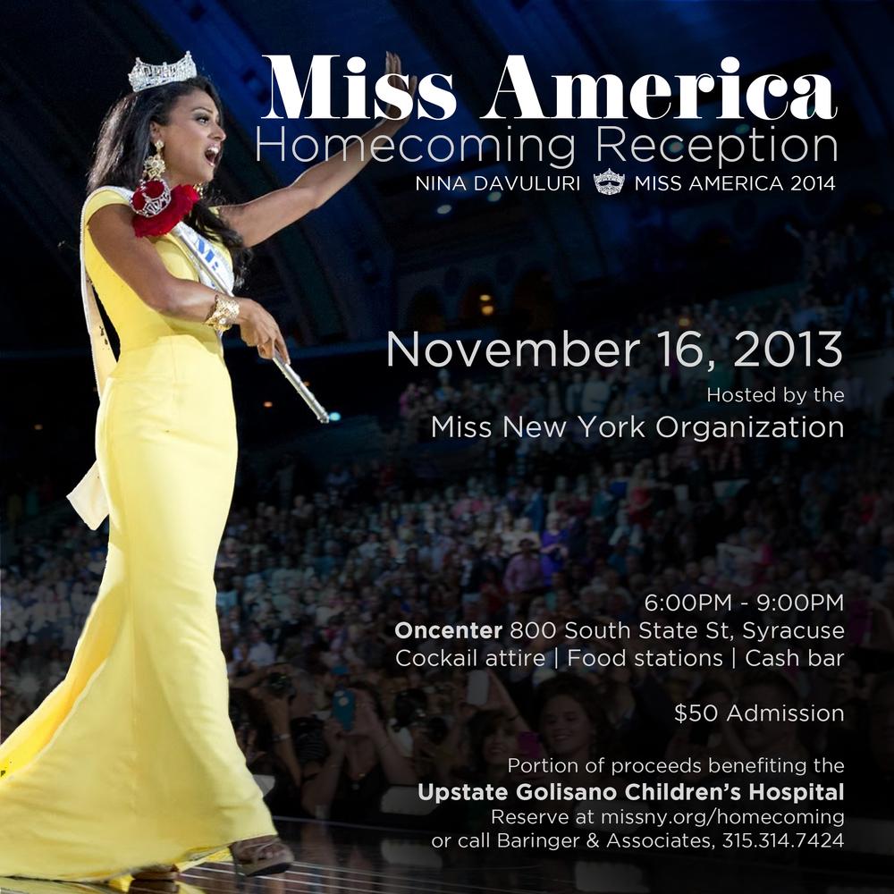 Miss America Nina Davuluri Homecoming 2013