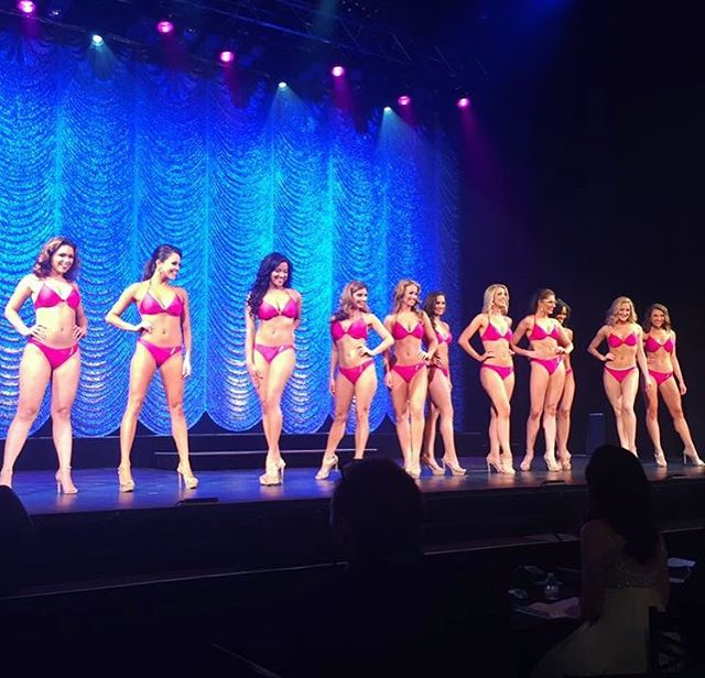 Thank you @kpswimwear for being the official swimsuit provider for the Miss New York  Organization. We strut our stuff this weekend in style 😊 Picture: Featuring the Top 11 in the Savannah Suit (Raspberry/Gold)👙 #MNYO #MissNewYork #SponsorSpotlight