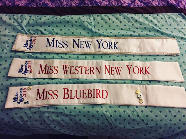 These three sashes are a representation of my journey with the Miss America Organization. ⭐️This is a journey of chasing dreams, ups and downs, growth, hard work, resilience, persistence, risks, reflection, love, faith, and endless gratitude each and every day. Feeling so blessed today and always! ❤️ #onefullweek #MissNewYork @missnewyorkmao @missamericaorg