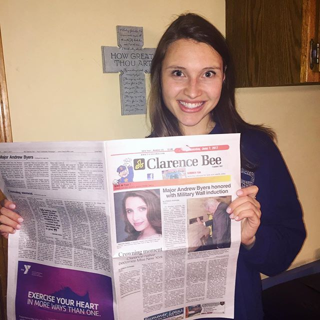 Extra extra!! 📰 Check out one of the the cover stories on the latest edition of the Clarence Bee!👑☺️#MissNewYork #ClarenceBee #localnews #hometowngirl link: http://www.clarencebee.com/news/2017-06-07/Front_Page/Crowning_moment.html