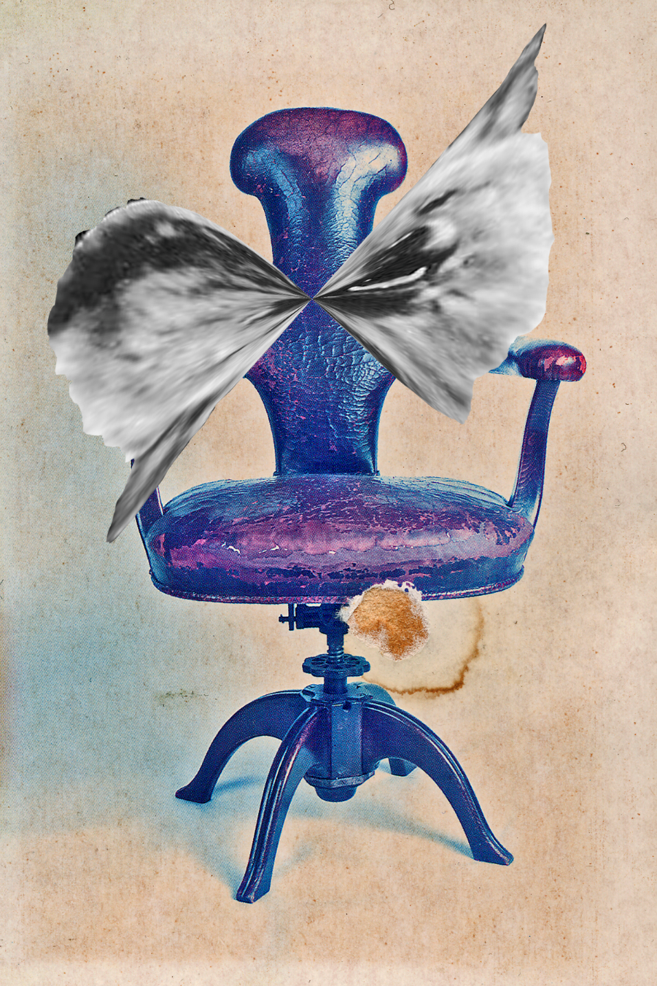 Jofi/SF Chair 2011, photo collage, inkjet print, 6 x 4""