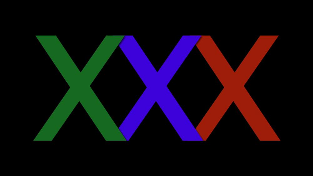 RGB x 3 mid bright blue, 2013 inkjet print, 30x45cm