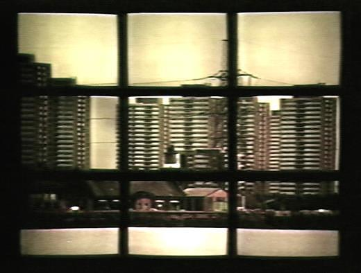 First Light 1989, video wall of 42 monitors, 7 min loop, First shown Tate Liverpool, then Diorama, Camden, London