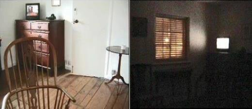 Helen's Room 2009, installation & live online link for duration of the site-specific show - here night & day camera views