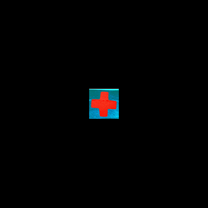 Red Cross-turquoise gif, 2012, see link below
