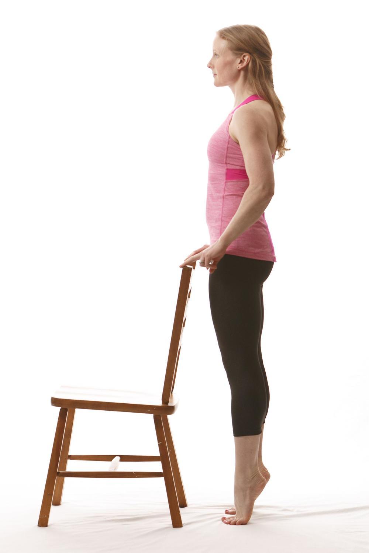 Heel raises for calf pain