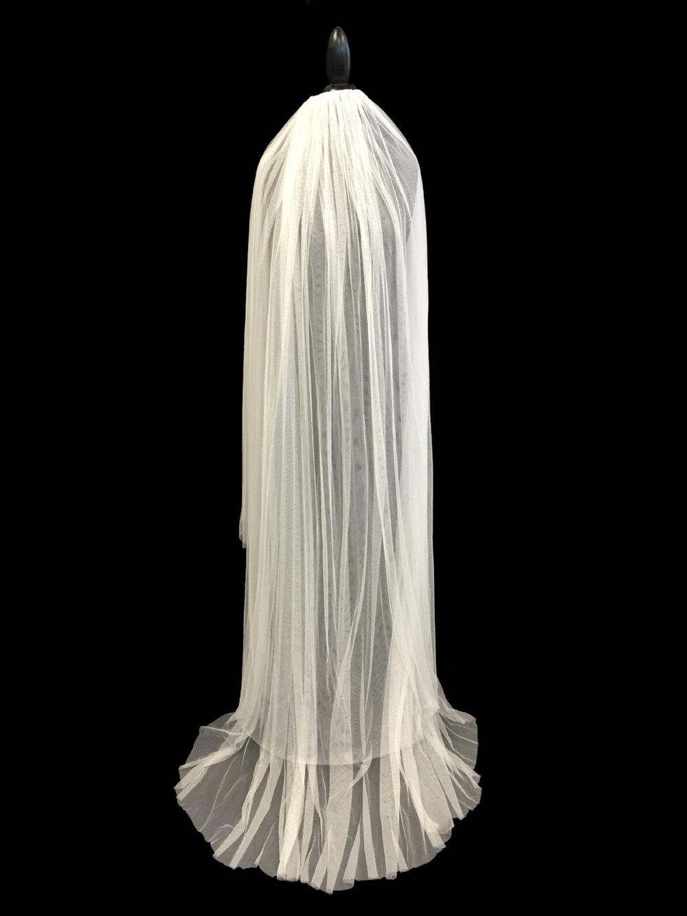 Style V5681-DI_ 60-72x120 Two Tier Faux Silk Veil