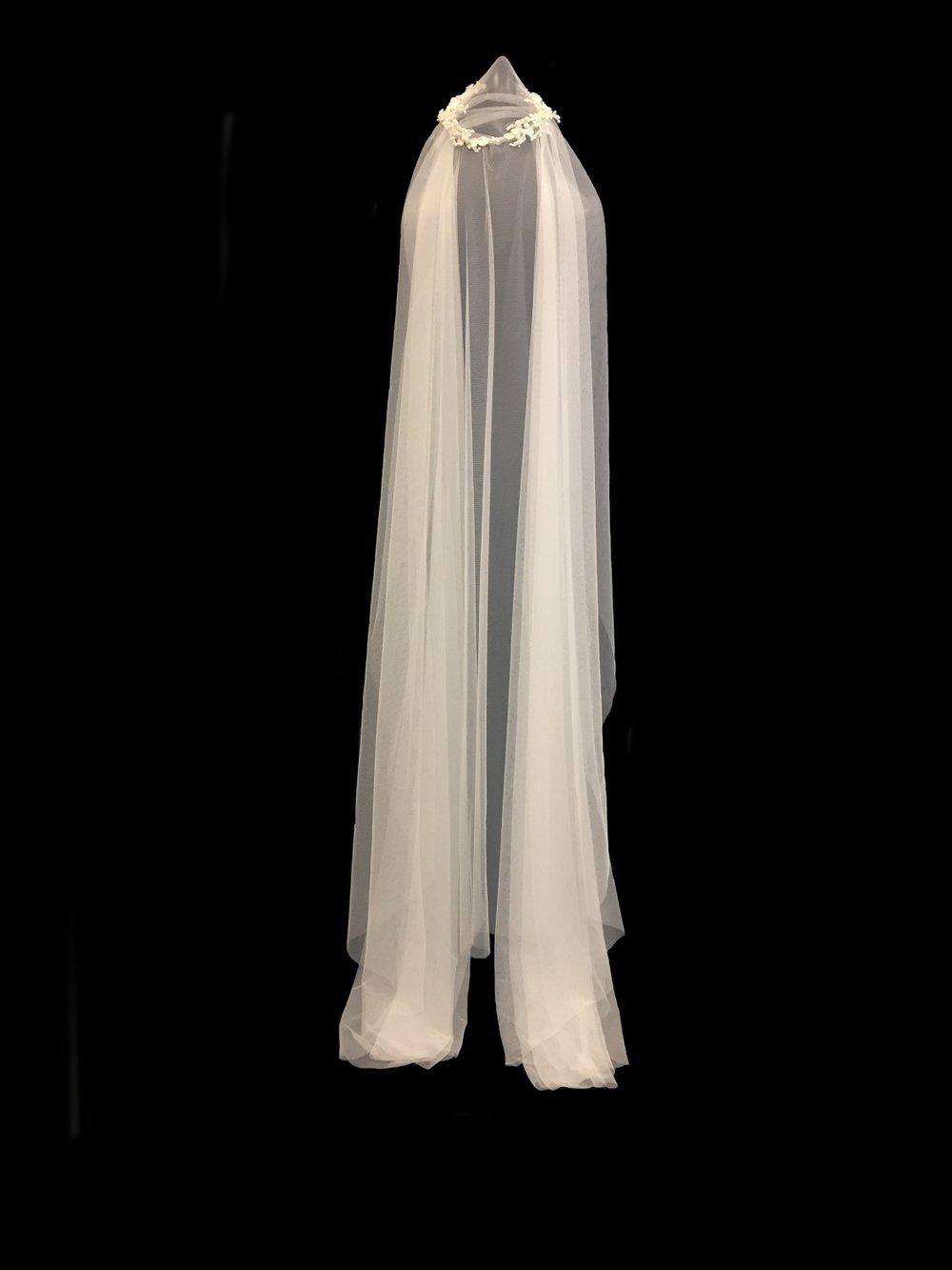 Style V5732-DI _ 72x120 Blossom Halo Faux Silk Veil