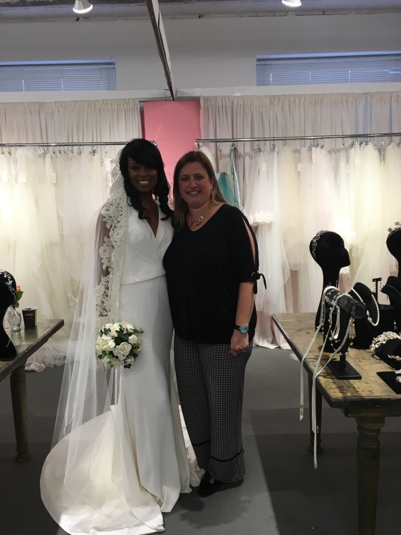 Tanya welcomes Natalie (on right) from  125 Bridal Boutique  in Plaistow, New Hampshire
