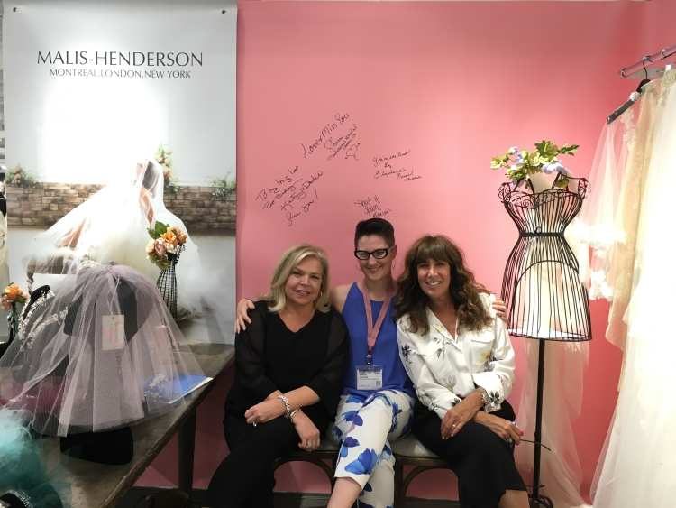 The always fashionable Sara from  It's Your Day Bridal Boutique  in LaSalle Ontario is flanked by Malis-Henderson's Vela and Elen.