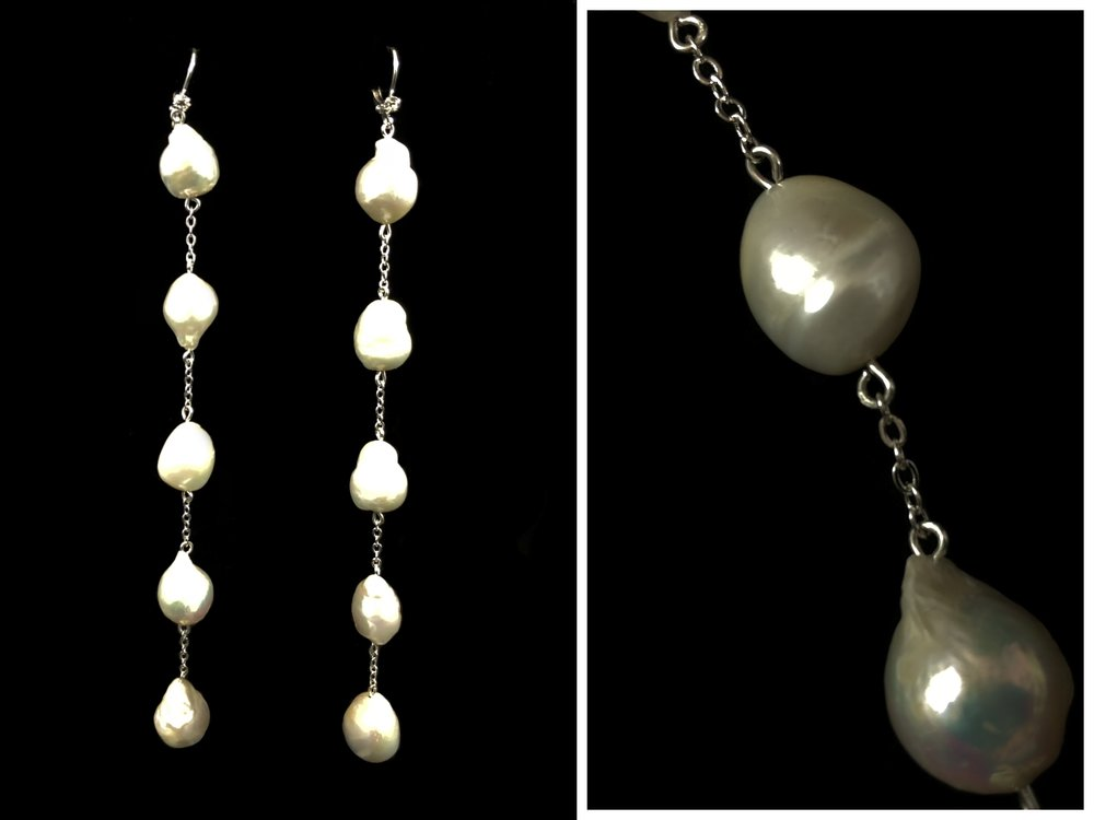 """Style 8058ER-D  -  5½""""  - Baroque Fresh Water Pearls"""
