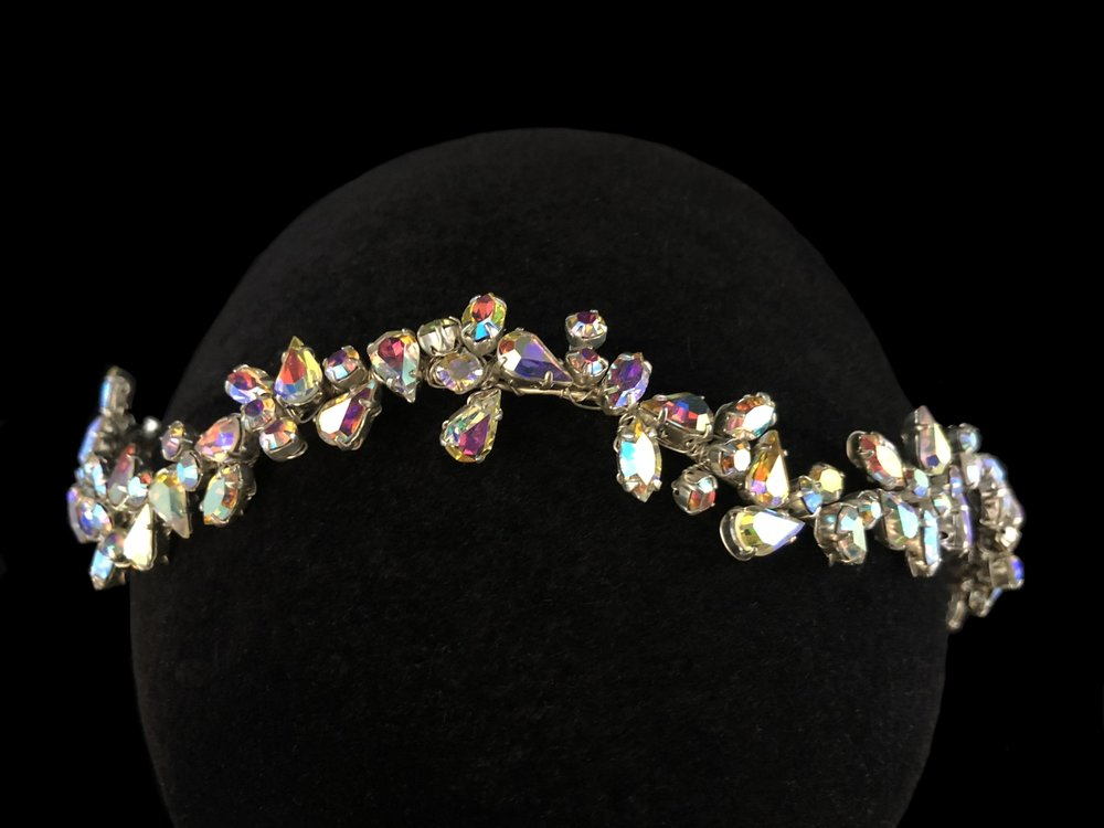 """Style 8103-D  -  ¾"""" wide  - Silver / AB"""