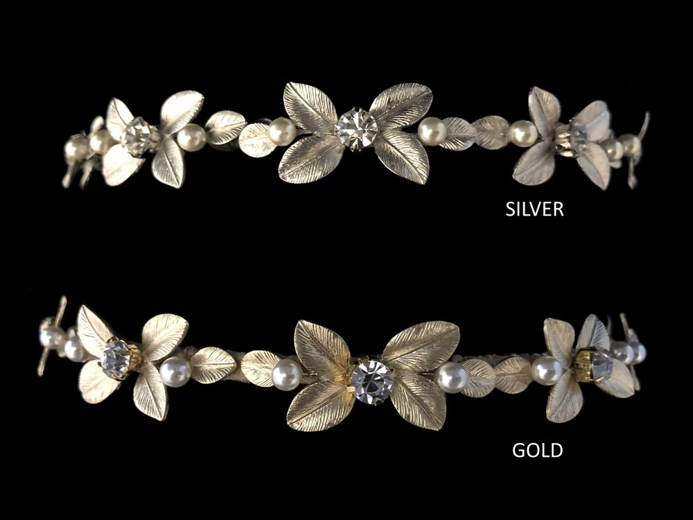"Style 8122-I  -  7/8"" at widest  - Silver or Gold"